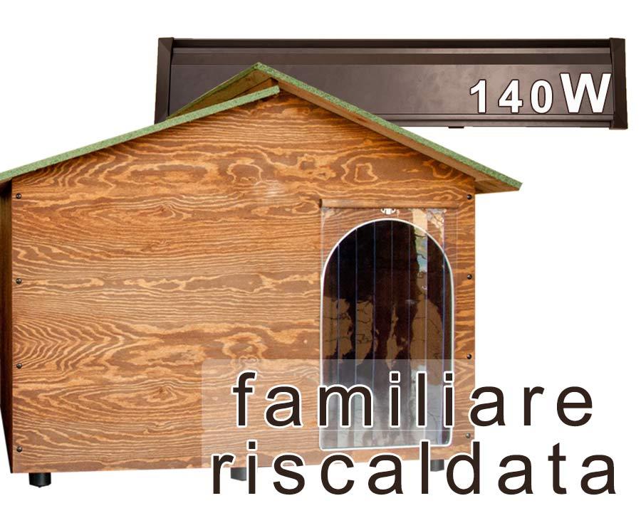Casetta per cani riscaldata in legno familiare for Cucce per gatti da esterno riscaldate