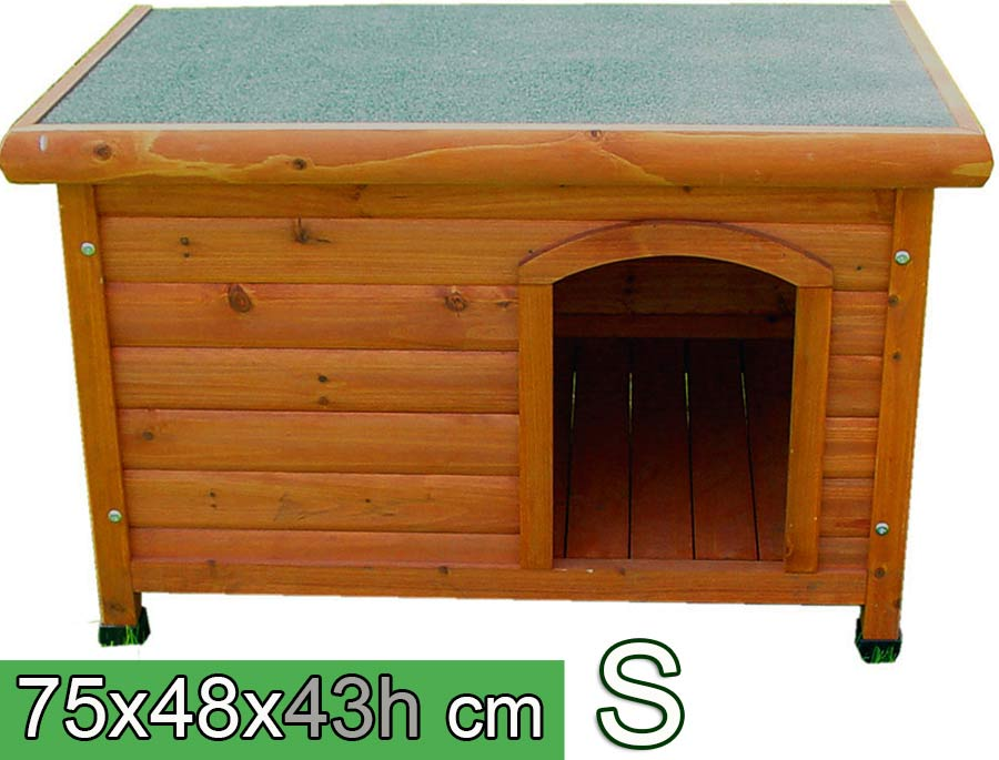 Cuccia per cani in legno tetto piano s cuccia per amore for Cucce da interno per cani taglia grande